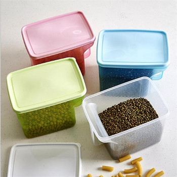 Best Selling Plastic Food Storage Containers Cereal Containers Dry Food  Sealed Jar Plastic Containers With Handle