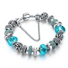 italy murano bracelet in blue tone and crystal