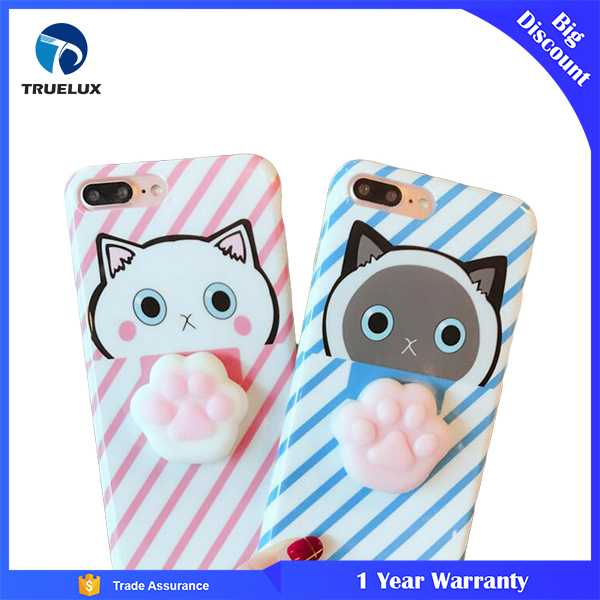 Fast Shipping Mobile Phone TPU Case for iPhone 7 Plus , TPU 3D Doll Squishy Case for iPhone 7 Plus
