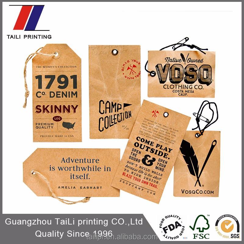 Extraordinaire Personnalisé recyclé papier étiquettes volantes pour vêtements  TQ05