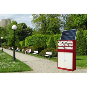 Stand on the side of the street multi-function mobile phone charging station