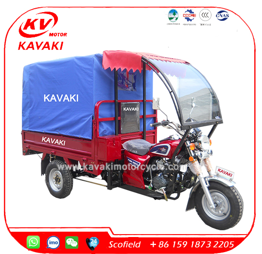 KAVAKI Enclosed 3 Wheel Motorcycle Passenger 3 Wheel Trike/Petrol Motorcycle