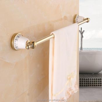 wall mounted bathroom single towel bar ceramic bathroom accessories towel rail g7524