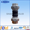 EPDM expansion bellows double ball BS NPT union threaded rubber joint