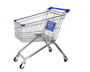 Hot Selling Metal European Grocery Supermarket Shopping Trolley dimension shopping trolley