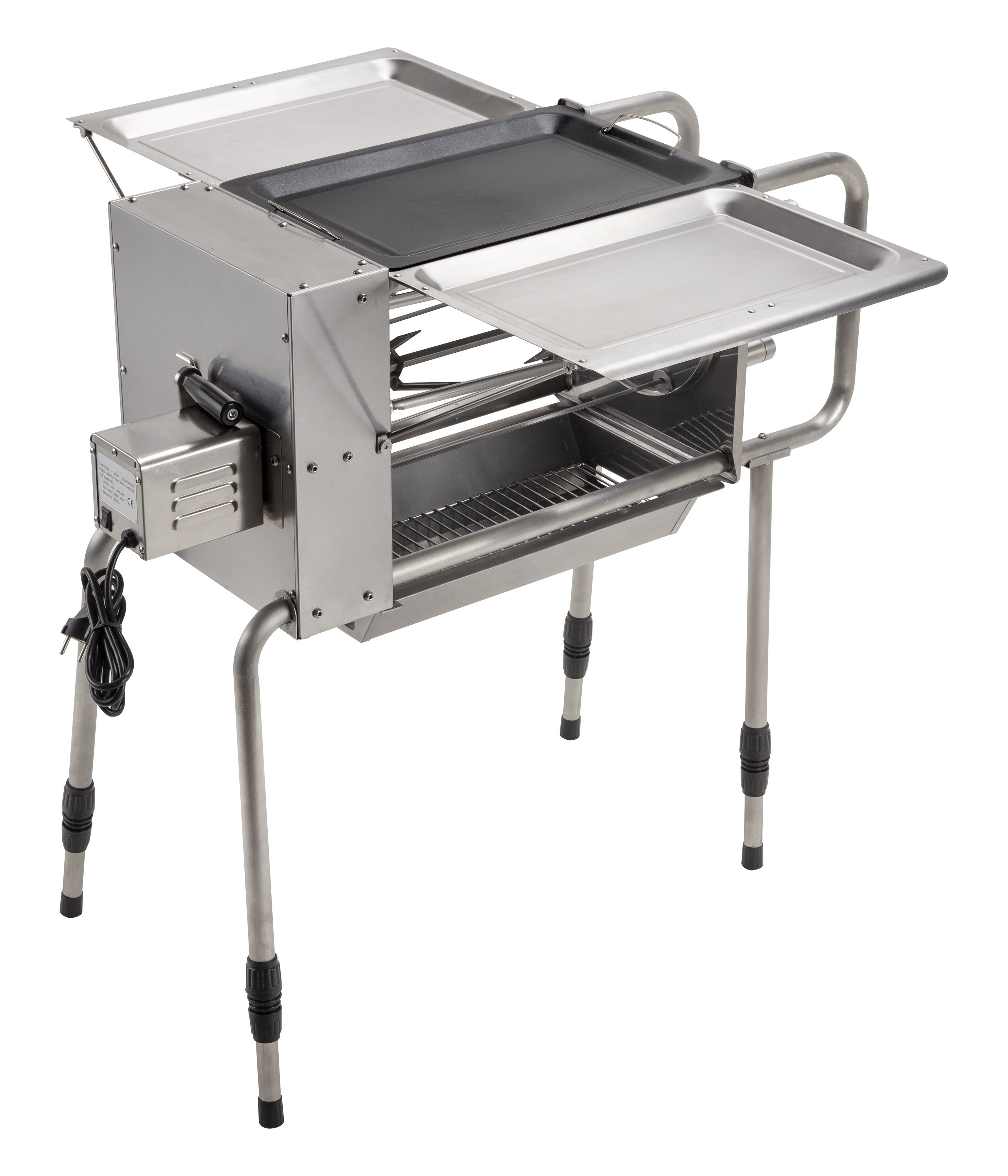 Multifunctionele automatische rotisserie kit houtskool barbecue spit Braziliaanse roterende grill motor outdoor camping achtertuin