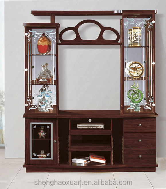 Foshan Factory Directly Sale Plywood Mdf Tv Cabinet Glass/lcd Tv ...