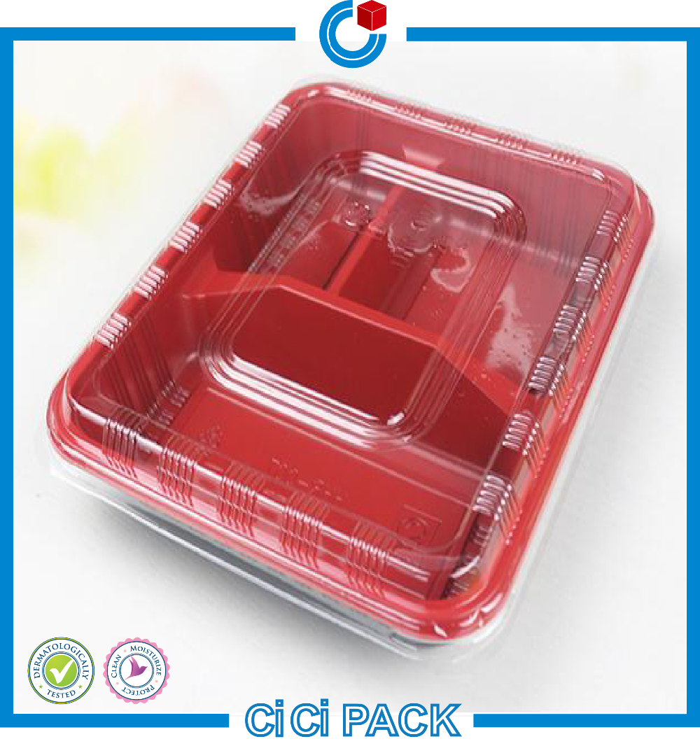 Disposable plastic container for food packaging lunch box wholesale