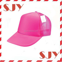 Wholesale snapback hats neon color blank trucker hat