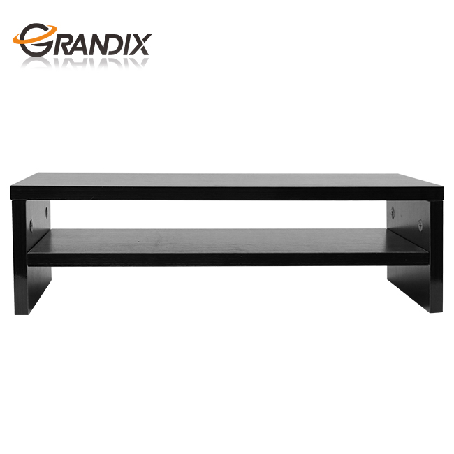 Computer Monitor Stand Tv Shelf Risers 16 7 Inch 2 Tiers Save E Black