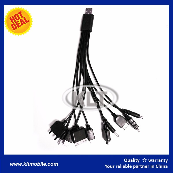 multi usb connector cable Multi 10in1 USB Charger Adapter Cable Mobile Phone Connector For iPad iPod