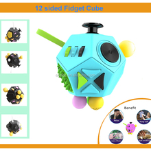 High quality stress 12 sided fidget cube for Adults and Children