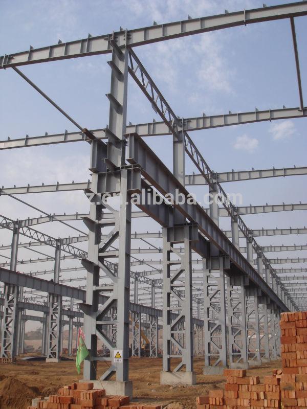 Prefab space steel frame lattice column structure for for Prefab columns