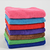 popular deluxe microfiber plush car drying towel grey color with red edge