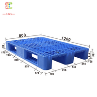 1200*800*155mm heavy duty made load capacity plastic pallet for sale