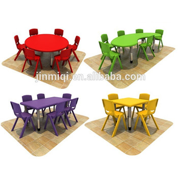 Kids Plastic Table And Chair Set Outdoor Jmq