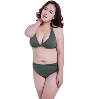 Women Original One-size Swimsuit For Fat Much Swimsuit Large Size Chest XXXL Gathered Sexy Show Thin Bikini