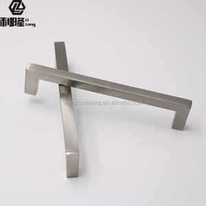 Alumminum Stainless Steel Kitchen Cabinet Pull Desk Drawer Knobs Cupboard Square Handle