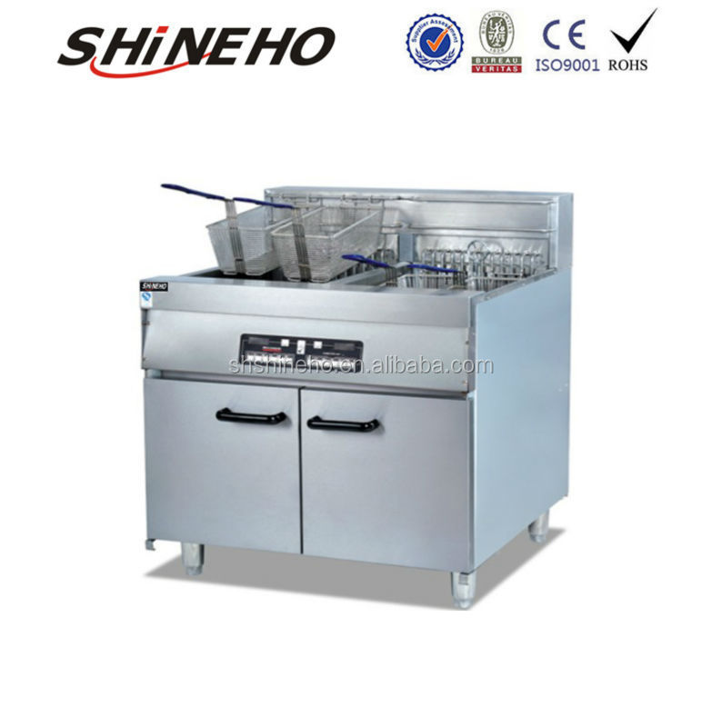 W162 commercial electric deep fryer friteuse with 2 tank for Friteuse fust