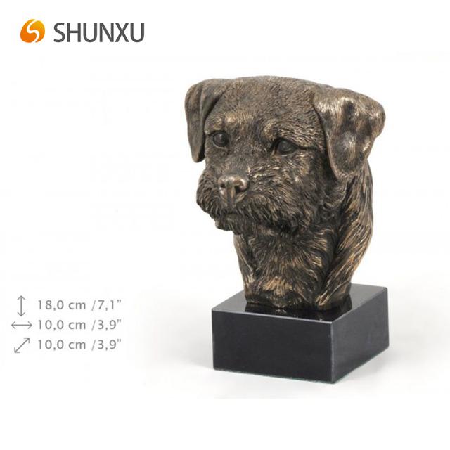 AT Holz Statuette ArtDog Border Terrier Bronze