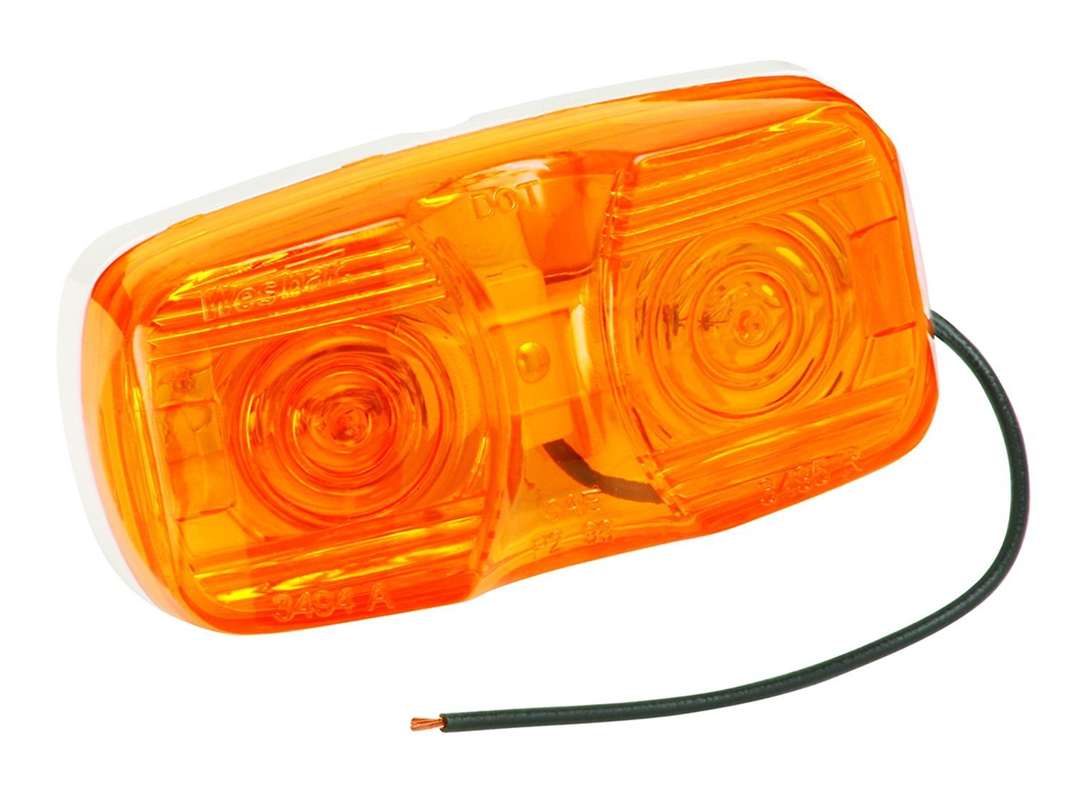 Wesbar 6 Pin Wiring Harness Cheap Trailer Light Find Deals On Line Get Quotations Standard Side Marker Clearance With Dual Bulbs Amber