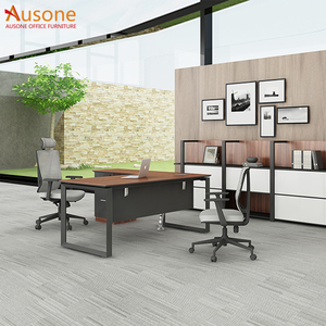 Wooden l shape office furniture executive office desk for wholesale