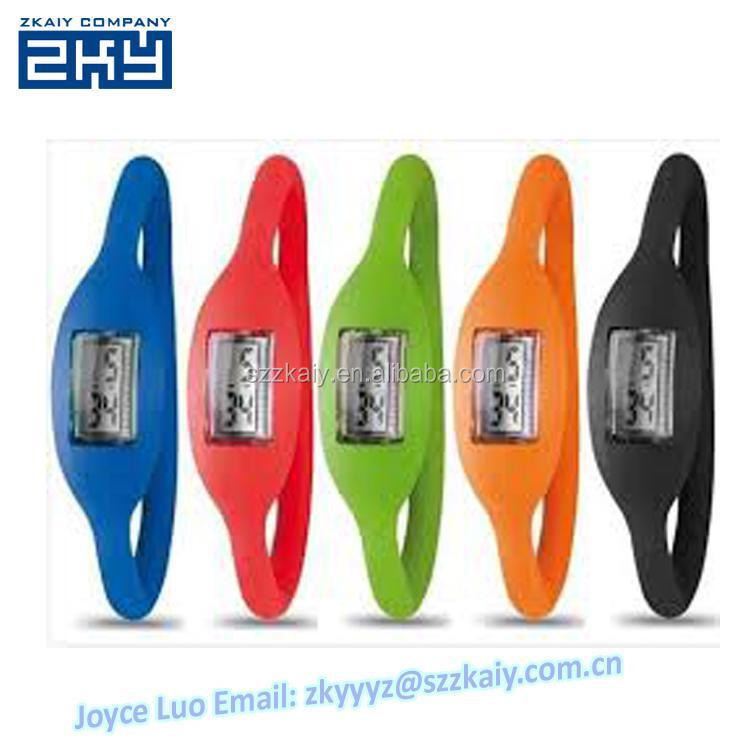 ZKY-0025 Promotion! Wholesale Mixed Colors Soft Silicone Ion Watch Unisex Mens Womens Boys Girls LED Sport Digital Wristband Wat