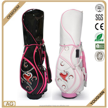 China wholesale customized ladies PU leather waterproof golf cart bag
