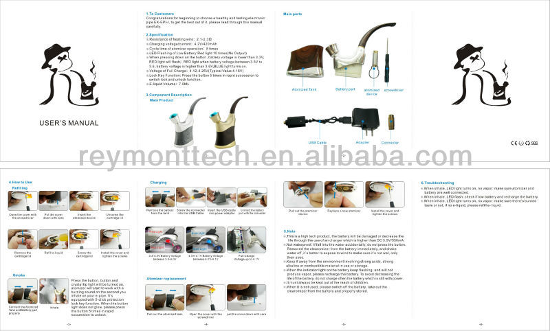 Electric cigs e pipe 618 vaporizer smoking pipe from alibaba China