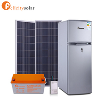 2017 guangzhou felicity brand solar power deep freezer hotel rechargeable solar power refrigerator