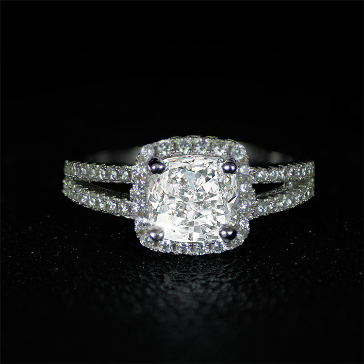 Wholesale Jewelry Wedding Engagement Cubic Zirconia Pink CZ Diamond Fashion Ring For Women AR1507 MOONSO