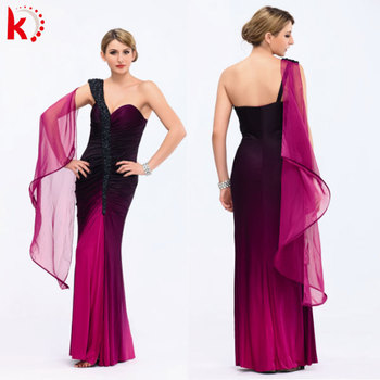e8b932f9157f High quality one shoulder birthday party wear women gown big size burgundy  evening dress