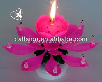 Low Price Factory Blooming Magic Birthday Cake Firework Candle