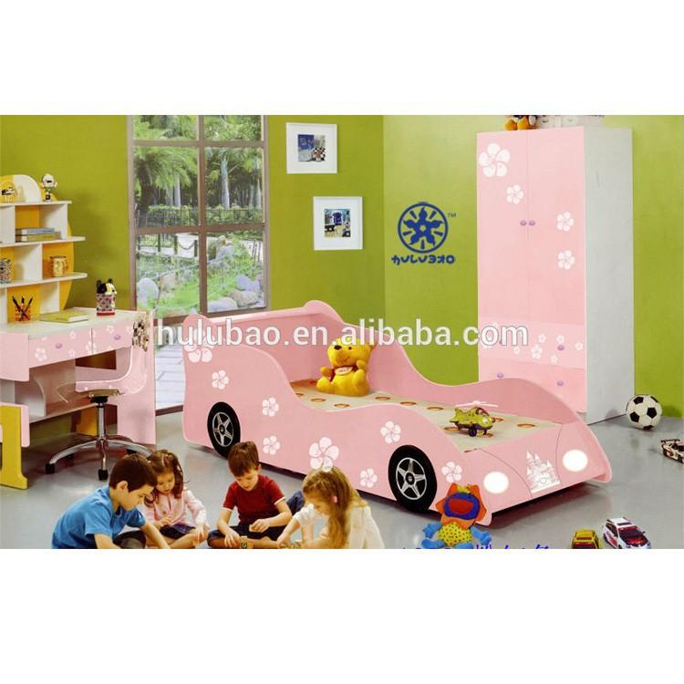 Pink Kids Car Bed / Car Bed For Kids / Girls Car Bed 1020