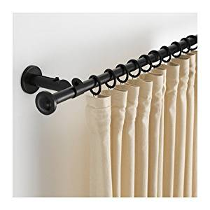 "Ikea Curtain rod set, black 47 1/4-82 5/8 "", 26210.202620.106"