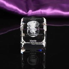3D Laser Engraving Global Awards, 3 D Crystal Cube AD Gifts