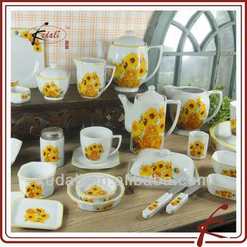 sunflower pattern ceramic dinnerware sets & Sunflower Pattern Ceramic Dinnerware Sets - Buy Flower Pattern ...