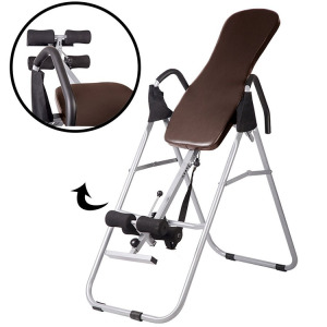 Hot selling fitness adjustable Folding Inversion Table With Comfort Backrest And Durable Tubular Steel Frame