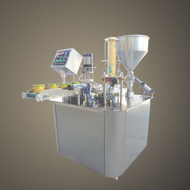 auto ice cream cup filling machine and sealing machine