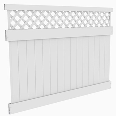 Vinyl Lattice Privacy Fence met Lattice Top