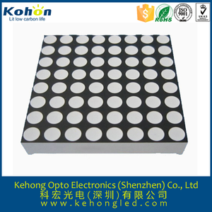China best sale 3mm square 8x8 rgb led dot matrix for elevator