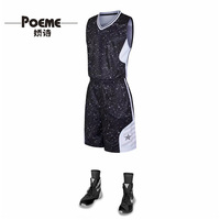 new designs JSYF-837 men sublimated basketball jerseys wear with ink dots style super fashionable with side pockets