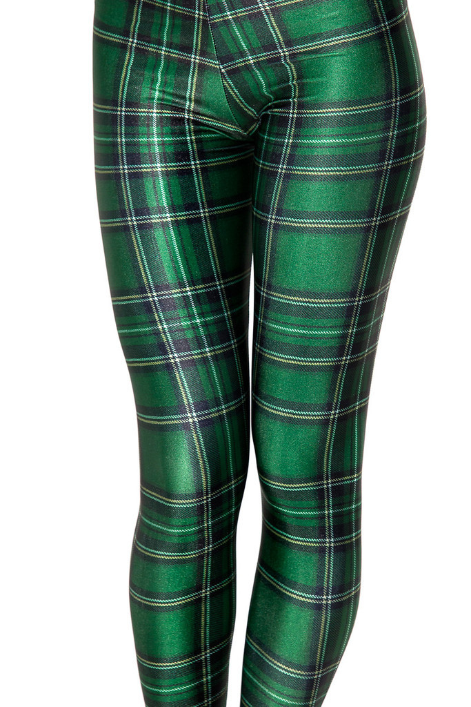 970b123927 Get Quotations · Drop ship S-4XL 2015 Women Green plaid Leggings MIlk  Leggings Galaxy leggings Plus Size