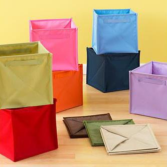Collapsible Fabric Storage Cube, Laundry Hamper , Foldbale Laundry Baskets