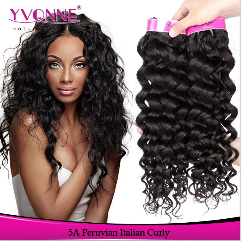 Grade 5a peruvian curly weave hair 100% virgin peruvian hair weft