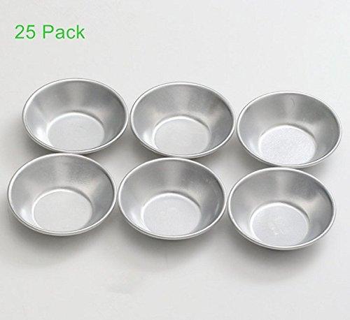 Para-wish Pack of 25 Mini Pie Muffin Cupcake Pans Egg Tart Bakeware -NonStick Puto Cup