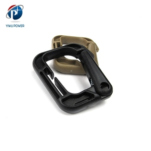 YP-SA-0124 Quick Release Snap Hooks Plastic D Ring Locking Carabiner