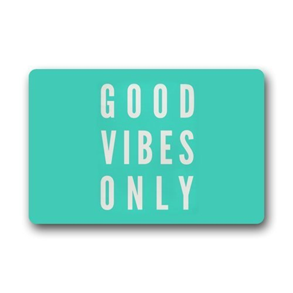 buy charm home funny saying quotes good vibes only doormats