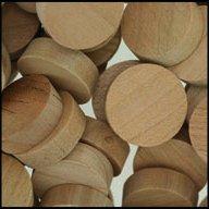 "WIDGETCO 3/4"" Cherry Wood Plugs, Face Grain"