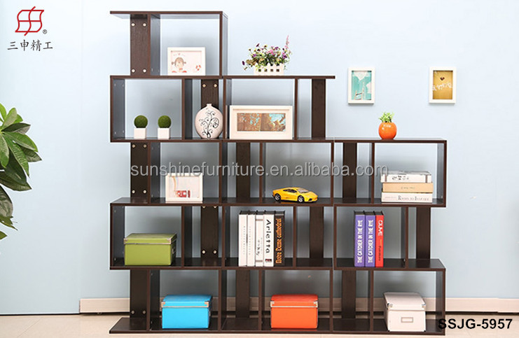 Wooden Modern Bookcasebookshelf Bookcase With Study